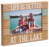 Pavilion Gift Company 67243 We People-Life is Better at The Lake Picture Frame, 5'x7'