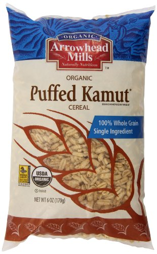 Arrowhead Mills Organic Kamut Cereal, Puffed, 6 Ounce