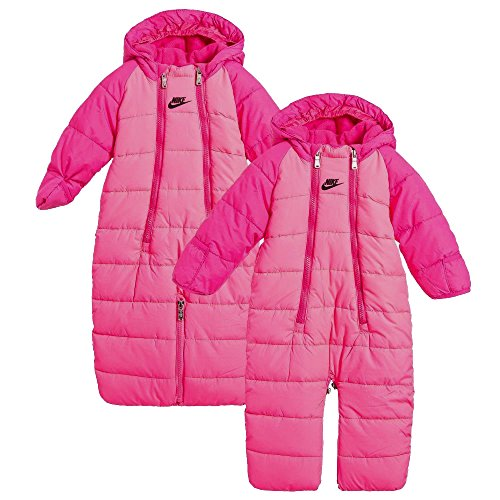 Nike Infant/Toddler Baby Boys' or Baby Girls' Sportswear Convertible Snowsuit (6-9 Months, Hyper Pink (A96) / Black/Hyper Pink)