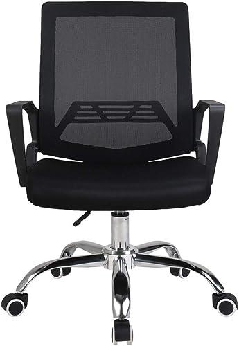 Comif-Chaise de bureau   de Personnel, Technologie Body   soulageHommest de la Fatigue, réglage de la Hauteur, capacité de Charge élevée, Main Courante Ergonomique (Noir, Blanc)