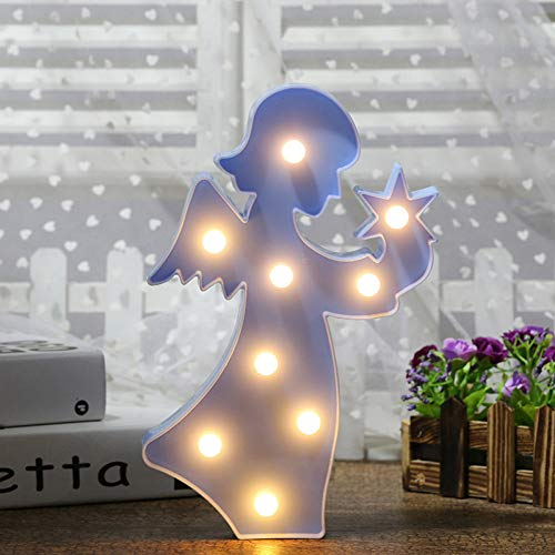 XHSHLID Led-nachtlampje, wandverlichting voor kinderen, hoeken, snoer vorm, led-lampjes, kerstboom, decoratie, verlichting voor home party of vakantie