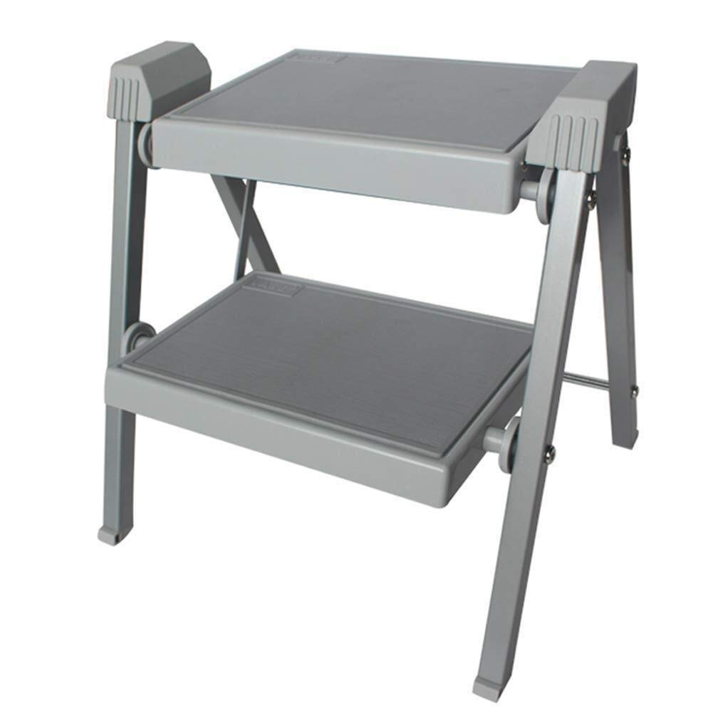 LIULAOHAN Escalera Plegable Plegable XHCfold, Taburete de 2 peldaños Acero Resistente con tapete Antideslizante, for caravanas autocaravanas o Furgonetas Camper Duradero (Size : 41x37x40cm): Amazon.es: Hogar