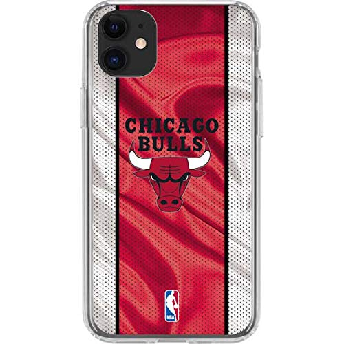 Skinit Clear Phone Case Compatible with iPhone 11 - Officially Licensed NBA Chicago Bulls Away Jersey Design