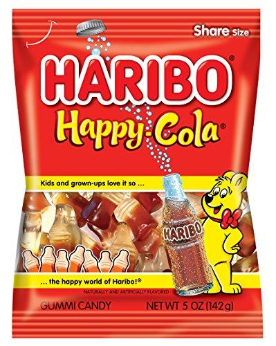 Haribo Gummi Candy, Happy-Cola, 5 oz. Bag (Pack of 12)