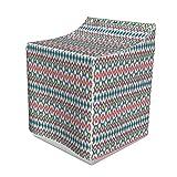 ABAKUHAUS Ikat Waschmaschienen und Trockner, Kulturen Themen Mexican Aztec Motive mit geometrischem Design, Bezug Dekorativ aus Stoff, 70x75x100 cm, Mehrfarbig