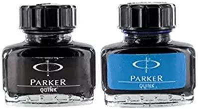 Parker Quink Fountain Pen Ink Bottle - Blue Ink 30ml + Black Ink 30ml - Combo Pack
