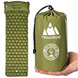 TRINORDIC Camping Mat Ultralight Inflatable Sleeping Mattress with Pillow, Folding Lightweight Inflating Single