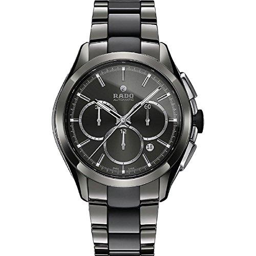 RADO HYPERCHROME Herren-Armbanduhr 45MM Armband Keramik Quarz ANALOG R32276112