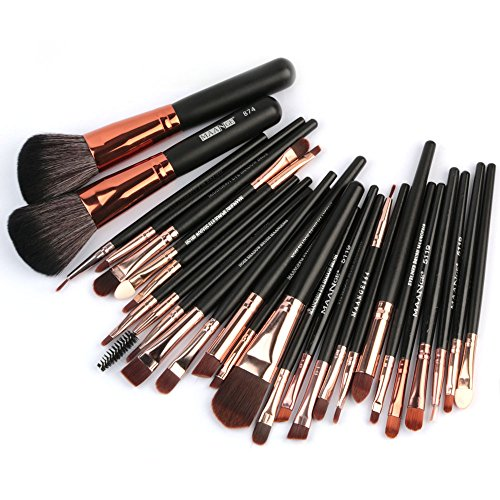 MRULIC 22pcs Make UP Pinsel Pinselset Schminkpinsel Kosmetikpinsel Kosmetik Brush Kunstleder Etui...