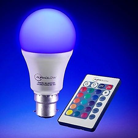 Auraglow 2.4GHz Remote 5W Multi White Dimmable Adjustable Colour Temp LED GU10