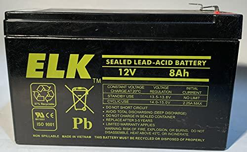 Elk ELK-1280 12V 8Ah Sealed Lead Acid Battery