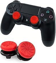 FPSフリーク Vikisda PS4 PS5 Switch プロコン コントローラー用 親指グリップキャップFPSアシストキャップ RG 可動域アップ プレイステーション4コントローラ用 FPS Freek (レッド)