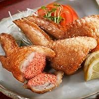 レンジでチンですぐに食べれる! 揚げずに美味しい 焼き手羽先明太 手羽餃子 (5本入り)