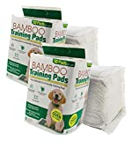 Bamboo Dog Training Pads by The Green Pet Shop  100 Count, Super Absorbent Pads with Prolonged Odor Control  Ideal Puppy Training Pads or Incontinence Pads for Senior Pets  22 x 23 Inches
