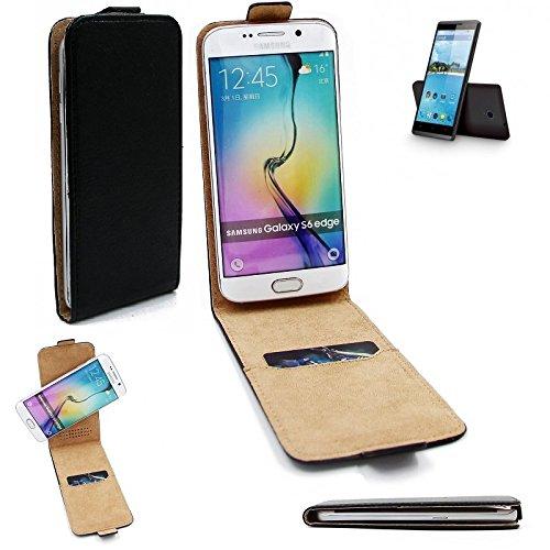 K-S-Trade Für Hisense Sero 5 Flipstyle Schutz Hülle 360° Smartphone Tasche, Schwarz, Hülle Flip Cover Für Hisense Sero 5