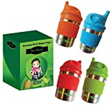 Stainless Steel Sippy Cups for Toddlers Babies Kids by DeeMarie- BPA...