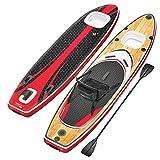 Messe-Neuheit 2020! Premium WBX SUP-Board mit 2in1 Sichtfenster | Action-Cam Ready +9in1 Set | Deutsche Qualitätsmarke | Aufblasbares Stand Up Paddel Board |Wassersport Kajak Sitz | Paddling Surfbrett