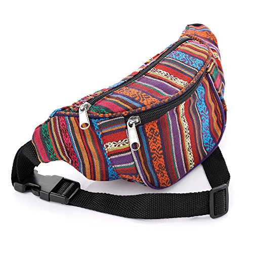 Multi Colour Tribal Print Coloured Bum Bag