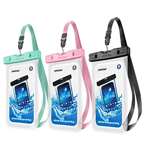 Mpow Universal Waterproof Case, 3 Pack Waterproof Phone Pouch Underwater IPX8 Dry Bag Compatible iPhone 11/11 Pro Max/Xs Max/XS/XR/X/8P, Galaxy S20/S10/S9, Google/HTC up to 6.8\
