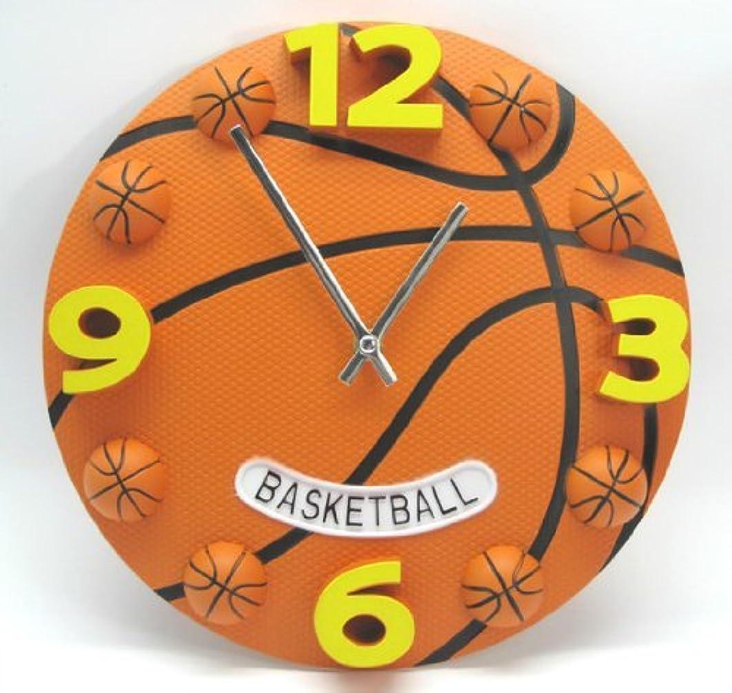 救急車レンズアヒルバスケ好きの方に 立体 バスケットボール クロック 掛け時計 直径30cm