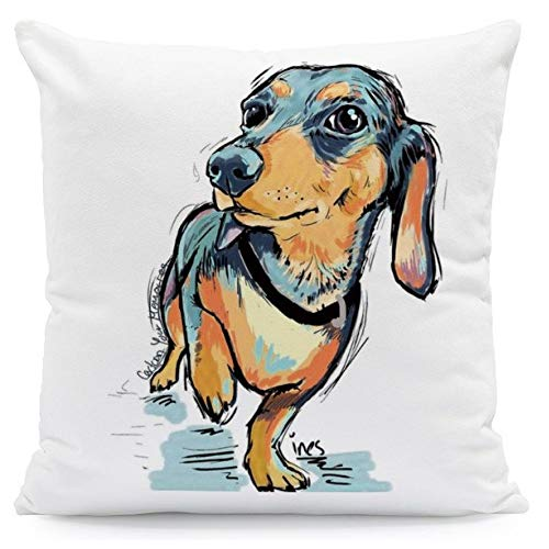 The Beach Stop Royal, Animal, Nature, Dog, Colourful Cushion Covers (Sausage Dog)