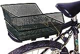 Ducomi Panier vélo arrière universel pour adulte, enfant et enfant - 38 x 28 x 17 cm - Panier de rangement et pour chien en réseau de métal plastifiée antirouille à accrocher au porte-bagages