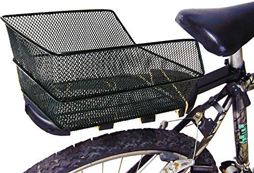 Ducomi Cesta Bicicleta Trasera Universal para Adultos, Niña y Niño (38 x 28 x 17 cm) Cesta Almacenaje - Red de metal Plastificada Anticorrosión - Ideal para Bicicletas Modernas y Vintage