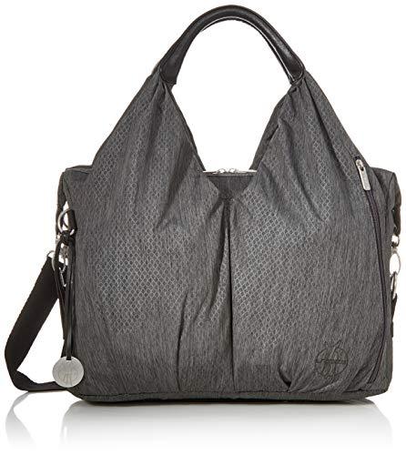 LÄSSIG Baby Wickeltasche nachhaltig inkl. Wickelzubehör nachhaltig produziert/Green Label Neckline Bag, schwarz mélange