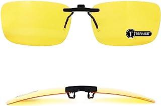 86a42b3ceca Polarized Clip-on Sunglasses Over Prescription Glasses Anti-Glare UV400 for  Men Women Driving