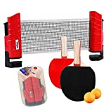 AND TREND Softee Kit Tenis Mesa 2 Palas con Red y 2 Bolas