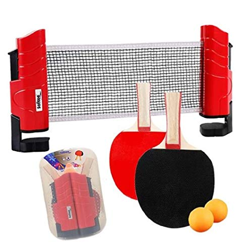 AND TREND Softee Kit Tenis Mesa 2 Palas con Red y 2 Bolas
