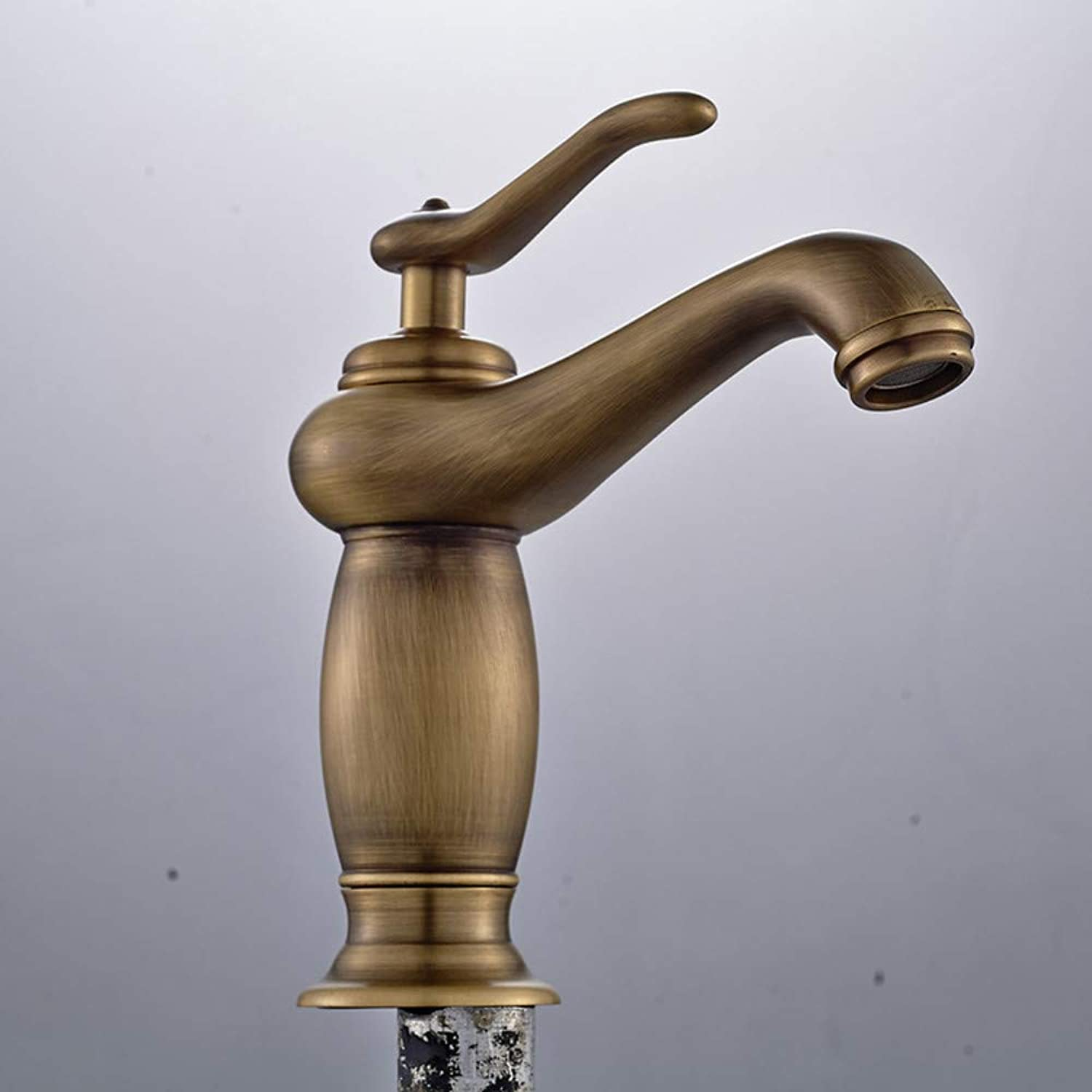 Floungey Kitchen Sink Tapbathroom Sink Tap antique gold-Plated Swan Faucet Copper Hot And Cold Basin Faucet gold Countertop Basin Faucet European Style