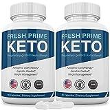(2 Pack) Fresh Prime Keto Pills Shark Tank, Fresh Prime Keto Weight Loss Capsules BHB Supplement 800mg, Keto Fresh Prime Diet Pills BHB Ketones Slim Pills for Energy, Focus for Men Women