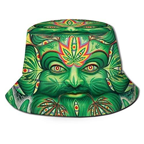 Fischerhut, Drittes Auge, Marihuana-Weed, Cannabisblatt, Sonnenhut, Outdoor, Angeln, Camping, Schwarz