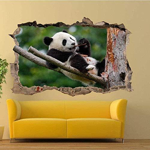 UYEDSR Wandsticker Pine Tree Wild Panda Wandaufkleber 3D Art Wandbild Shop Shop Dekoration 60x90cm