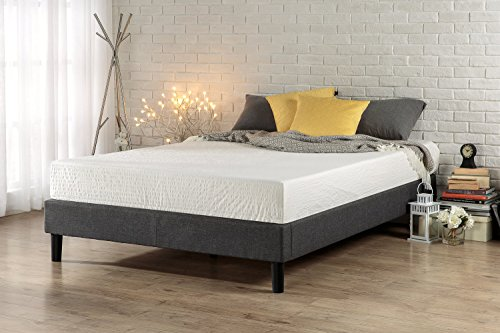 Zinus Curtis Essential Upholstered Platform Bed Frame / Mattress Foundation / Easy Assembly / Strong Wood Slat Support, Full