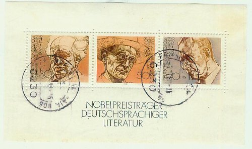 Nobelpreisträger deutschsprachiger Literatur - gestempelt 30/50/70 Pf./Pfennige [Briefmarken, Gerhart Hauptmann, Hermann Hesse, Thomas Mann]