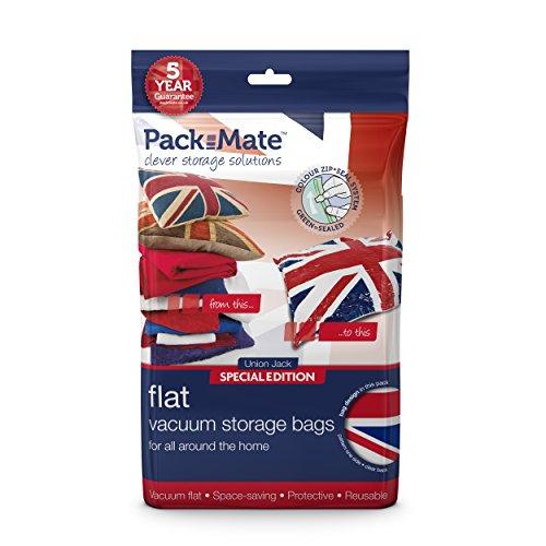 Packmate ® - 2 Bolsas para almacenaje comprimido – Extra Grande: 70 x 105 cm - para Ropa, edredones tamaño Matrimonio, Ropa de Cama y más
