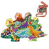 Dinosaur Valley Paper Puzzle 105 Piece Puzzles for Learning Educational Cardboard Puzzles Christmas Birthday Gift for Boy Girl
