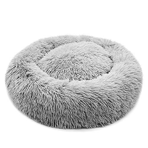 Fangqiyi Round Deluxe Haustierbett für Hunde und Katzen, mit Reißverschluss, leicht zu waschen, Kissen für Katzen/Hunde,60-120cm
