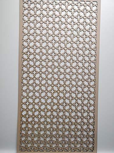 LaserKris K5 Heizkörperschrank, dekorativ, Perforierte MDF-Platte (4X2)