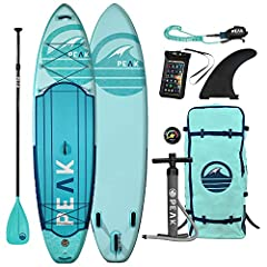 "BUILT FOR EXPLORATION: Designed for the paddle board warrior, the inflatable SUP board features a hybrid nose for fishing, touring, snorkeling, spear fishing, or recreational paddling in all weather conditions 35% LIGHTER CONSTRUCTION: The 10'6"" Weig..."