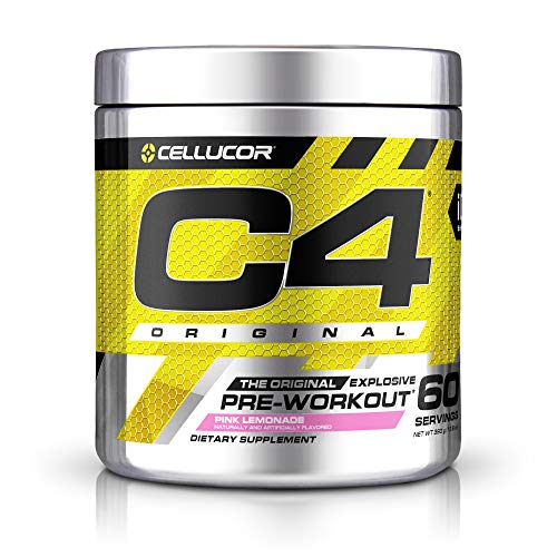 C4 Original Pre Workout Powder Pink Lemonade | Vitamin C for Immune Support | Sugar Free Preworkout Energy for Men & Women | 150mg Caffeine + Beta Alanine + Creatine | 60 Servings