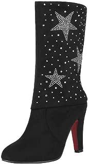 Zanpa Women Fashion Folded Collar Boots Ankle High