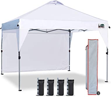 Eurmax Outdoor Pop Up Portable Shade Canopy Quick Tent Canopy Instant Canopy 10ftx10ft Picnic Canopy Collapsible Gazebo with