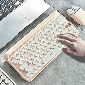 【Lofree専門店】正規品 Bluetoothキーボード ワイヤレス メカニカル式 キーボード 丸形キートップ ファッション USB充電 有線/無線 ブルートゥースキーボード IOS/Android/Windows に対応 (キーボード)