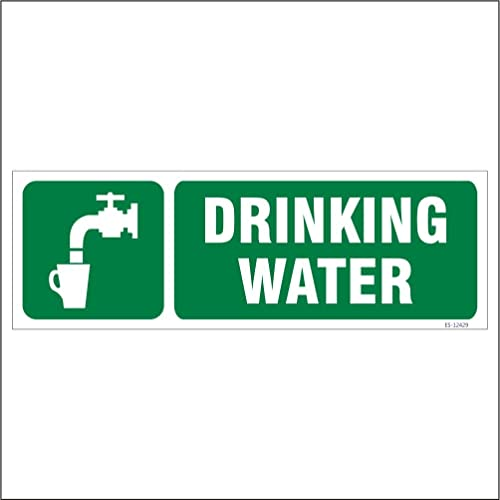 SignageShop Es-12429 Glow In Dark Drinking Water Sign