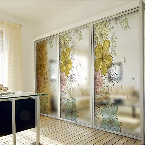 Meaosy PVC raamfolie mat ondoorzichtig Privacy Glas Sticker Bloem Home Decor Digitale Print Muursticker Blt867 Mooie Bloemen