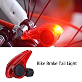 Luz de Freno de Bicicletas Resistente a Lluvia Luz de Advertencia para Frenos de Pinza Freno en V