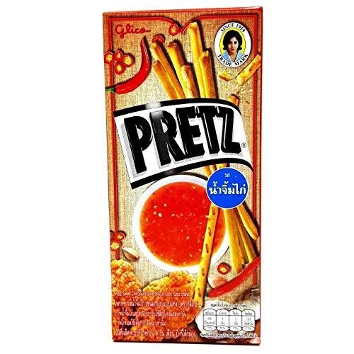 Thai Glico Pretz Sweet Chili Sauce Taste Flavour Biscuit Stick (Pack of 4)
